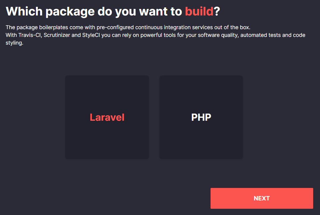 Laravel Package Boilerplate - first step